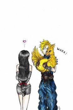 Sorry Tifa, couldn't catch a bigger one... by Onika-art