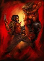 Wolverine Vs Sabreetooth by Froitz