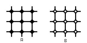 Rounded Squares - Grid Pattern 1 A,B by wuestenbrand