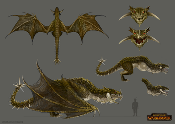 Total War: Warhammer Concept Art - Wyvern by telthona
