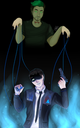 Glitch in the system - Anti/Connor by LadyValKatt