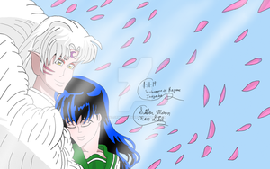 Sesshomaru And Kagome 2 by SailorMoonFanGirl