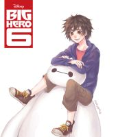 Hiro and Baymax by mo-na-me