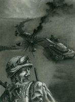 Man vs. Mine Charcoal by NickTrip