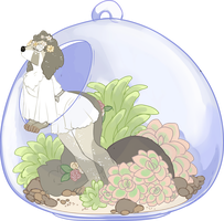 YCH! Rose Terrarium by Death2Eden