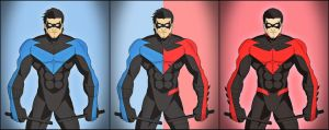 Nightwing - Blue vs. Red by DraganD
