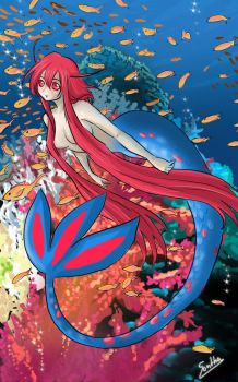 Milotic mermaid by Sparkly-Monster