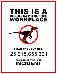 Velociraptor Safety in the Workplace by DLIMedia