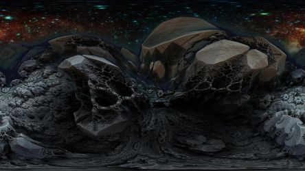 360 degree Fractal Death Valley 3326-Mandelbulb 3D by schizo604