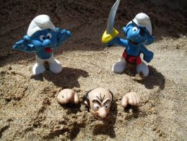 I said don't mess with my Smurf! by UncleGargy