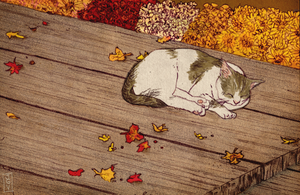 Autumn Cat by jgvillu