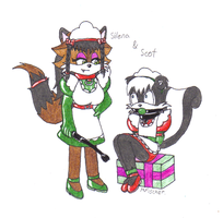 Scot and Silena Xmas P2 by metalzaki