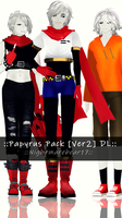 ||MMD|| Papyus Pack 2 [DL] (200 watchers gift) by NightmareBear17