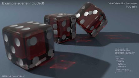 Configurable dice object for POV-Ray by utak3r