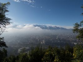 The east side of Santiago of Chile by PabloLynch