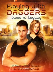 Book Cover - Playing with Daggers by Eva Fairwald by Elettra