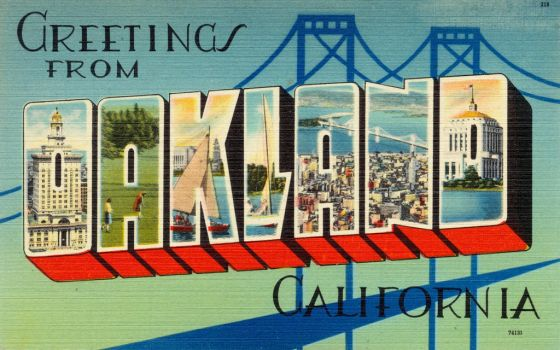 Large Letter Postcard - Oakland CA by Yesterdays-Paper