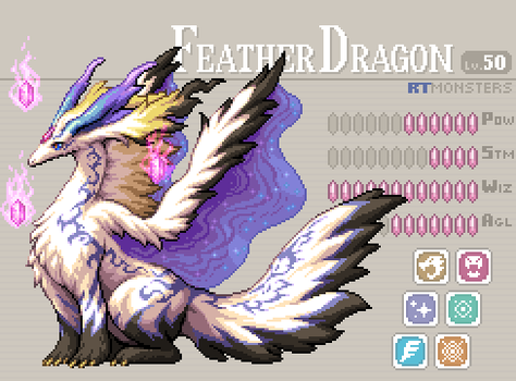 Feather Dragon Lv.50 by HectNishi
