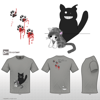 Cute Monster Design Challenge Kitten in the Shadow by ILuvJesse