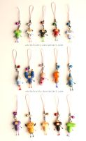Katamari Cousin Charms by whitefrosty