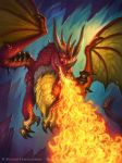 Hearthstone - Fire Dragon by namesjames