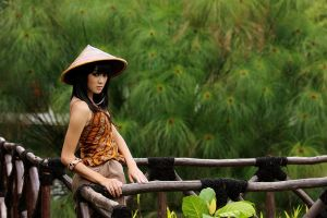 Village Girl from Indonesia by bedegonks