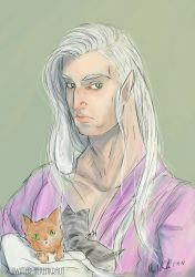 He loves kittens by Mademoiselle-Moder