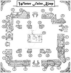 Winter Faire in Utah vendor map by BobbieBerendson