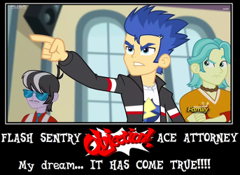 Flash Sentry Ace Attorney FOR REAL by Count-Author