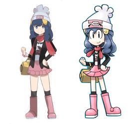 Remake Toon Dawn comparison by Andres2610