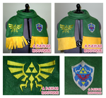 Legend of Zelda - Hylian Crest Scarf by AKawaiiBoutique