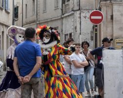 Italians in Beaucaire with masks. by jennystokes