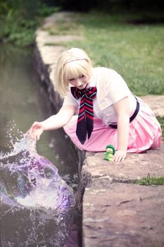 AnE:  Shiemi Moriyama - magic sparkle by JavisEan