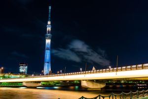Sakurabashi and Skytree by LDMarin