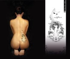 City cats - tattoo by model850
