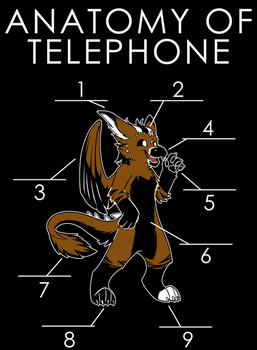 Anatomy of Telephone by artwork-tee