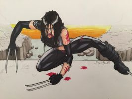 X-23 - I've had better days. by amonkeyonacid