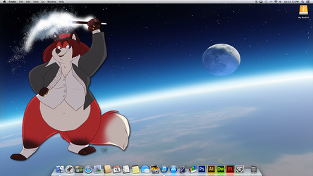 My new iMac Desktop by PudgeyRedFox