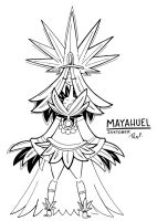 Inktober 11 MAYAHUEL by FlintofMother3