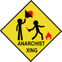 Anarchist Crossing Sign by CaptainVendetta