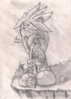 silver sonic the hedgehog 2006 by andreahedgehog