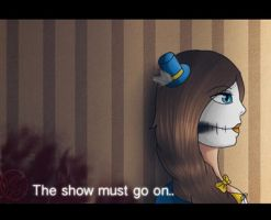 Screenshot-The show must go on by Pinkwolfly