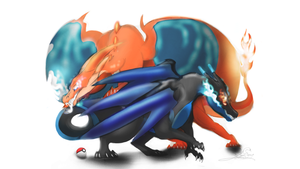 Mega charizard x and y by ZekromGoddess