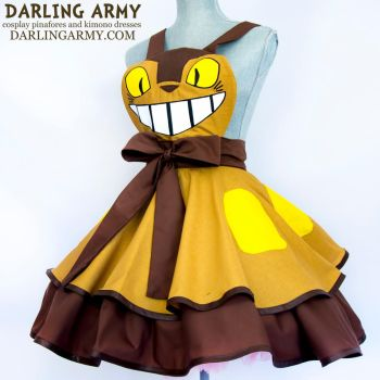 Cat Bus - Totoro - Inspired Cosplay Pinafore by DarlingArmy