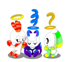 Chao Trio - Irritated Jenny by HeroineMarielys
