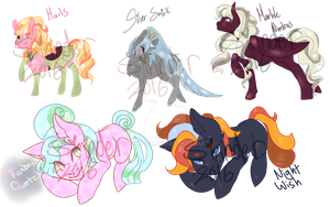 (5/5 Open) MLP Adoptables by Sinnder