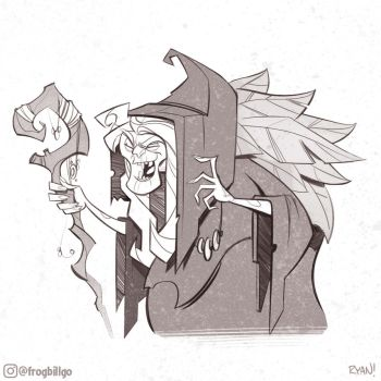 Soothsayer Sketch by frogbillgo