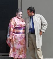 Rick Deckard and Faulty Android Geisha Cosplay by LRJProductions