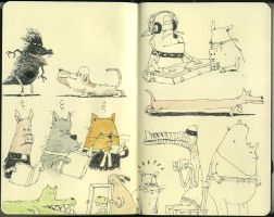 Symposium sketches by MattiasA