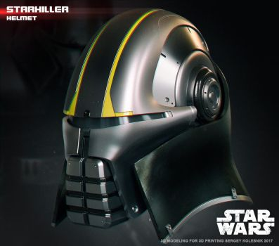 Starkiller helmet 3d print model by ksn-art